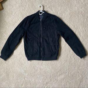 Lucky Brand black suede leather jacket medium